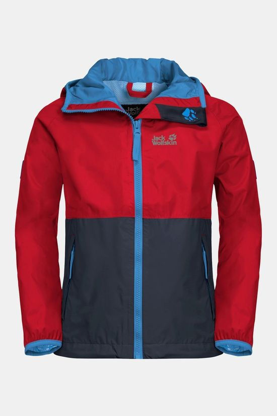 Jack Wolfskin Kids Rainy Days Jacket peak red