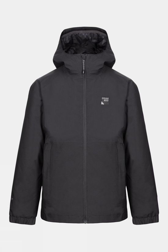 Sprayway Junior Hergen 3 in 1 Jacket Black/Thunder