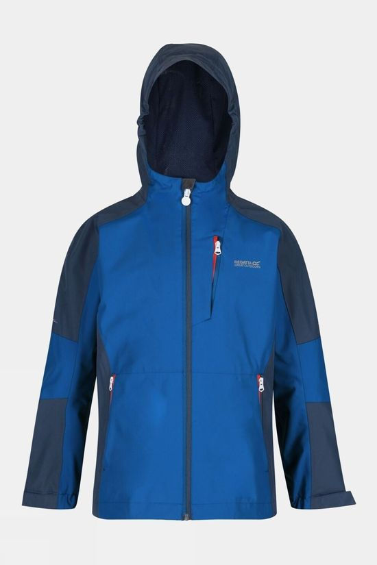 Regatta Junior Calderdale Waterproof Jacket Nautical Blue/Dark Denim
