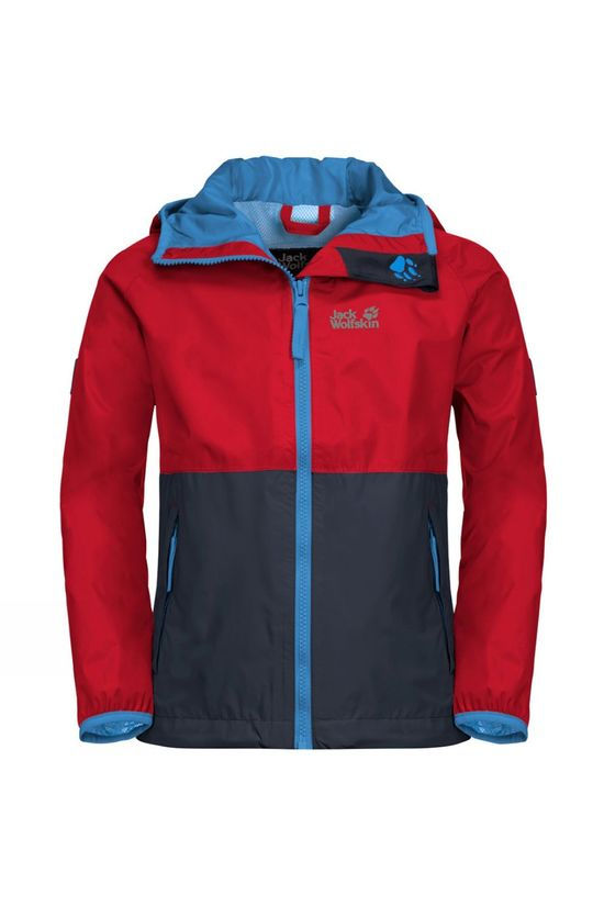Jack Wolfskin Kids Rainy Days Jacket 14+ peak red