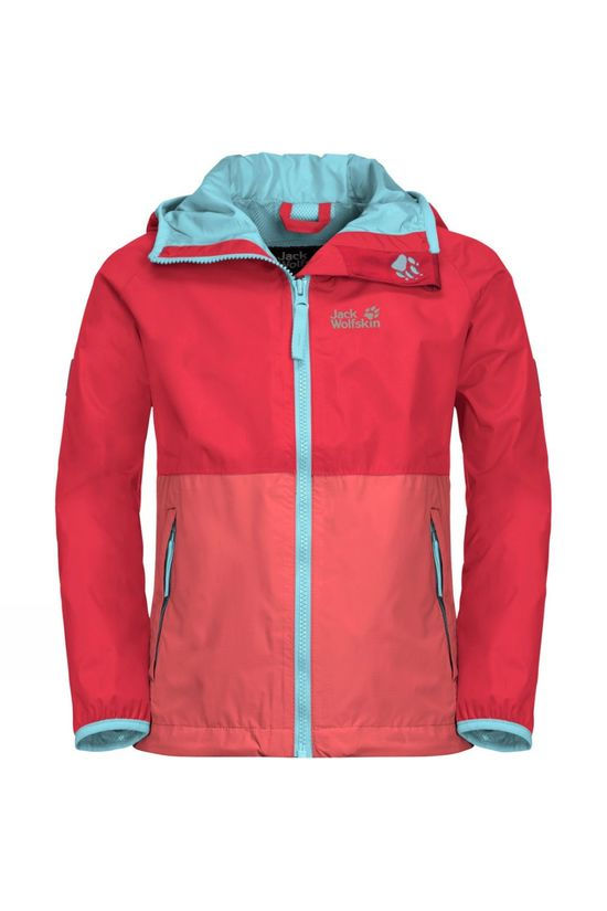 Jack Wolfskin Kids Rainy Days Jacket 14+ Tulip Red