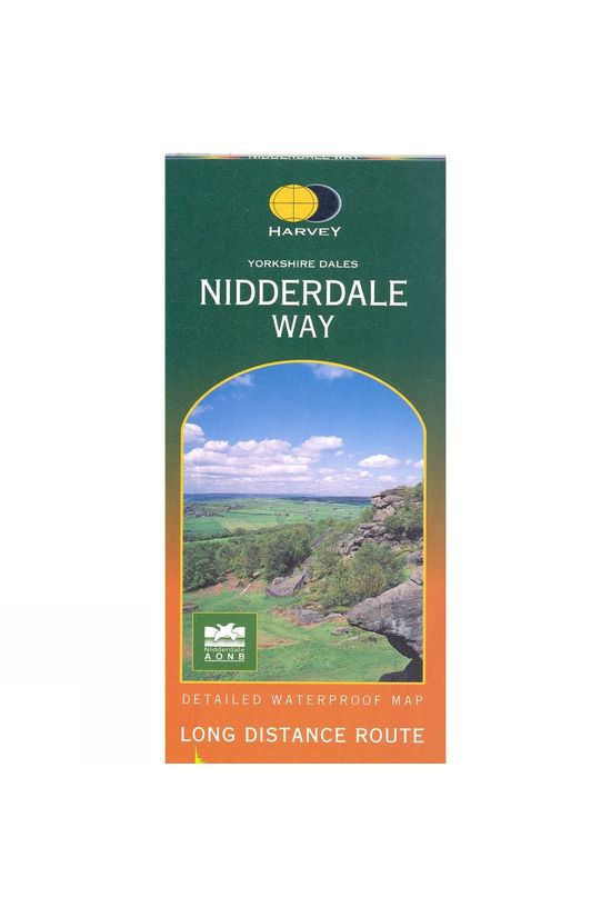 Harvey Maps Yorkshire Way Nidderdale Way Map No Colour