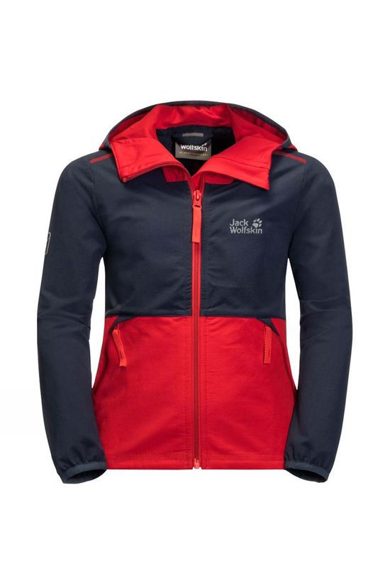 Jack Wolfskin Kids Turbulence Boys Jacket 14+ peak red