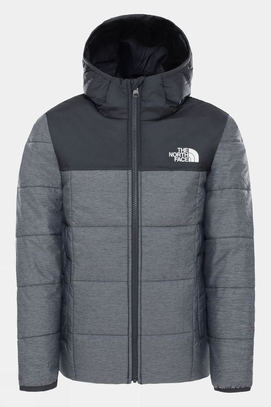 The North Face Boy's Reversible Perrito Jacket TNF Medium Grey Heather