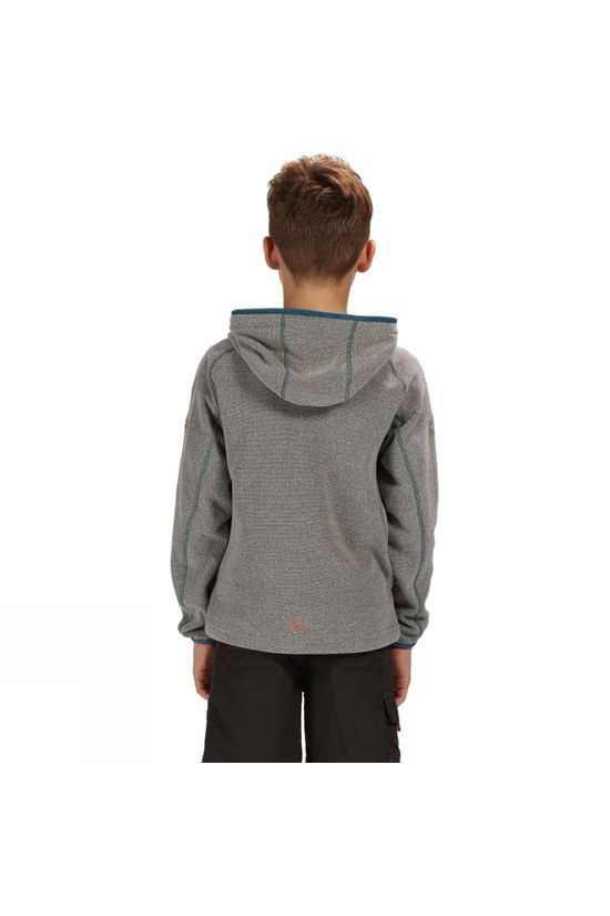Regatta Childrens  Bramar Fleece Hoodie Rock Grey
