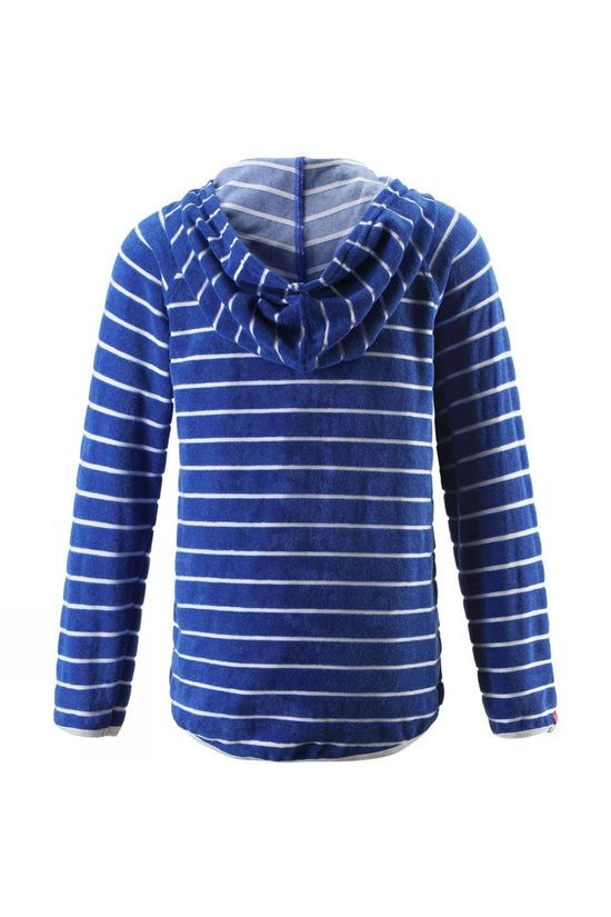 Reima Boys Hafen Beach Hoodie Bright Blue Stripe