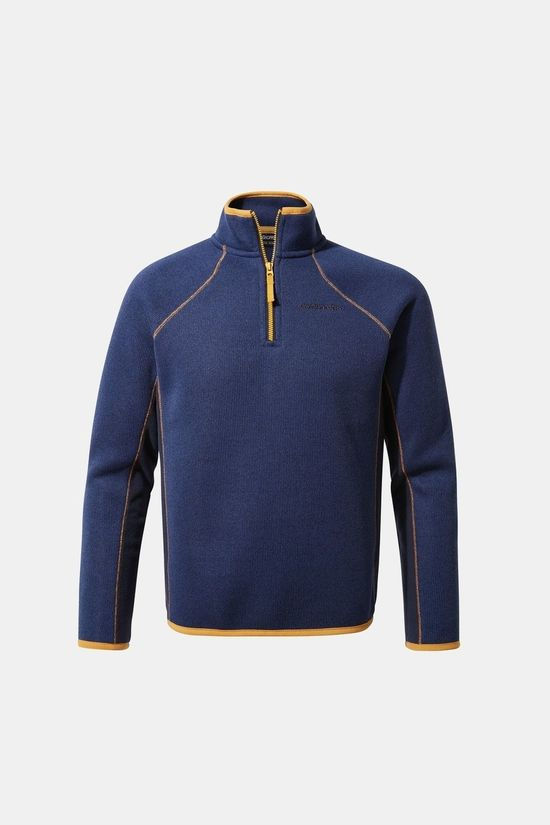 Craghoppers Childrens Abilio Half Zip Fleece Lapis Blue Marl