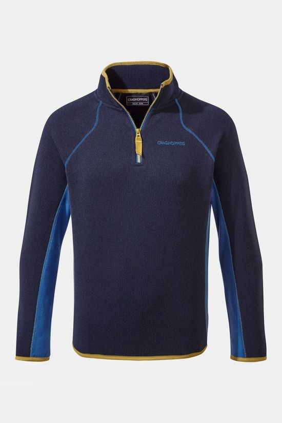 Craghoppers Childrens Abilio Half Zip Fleece Blue Navy Marl