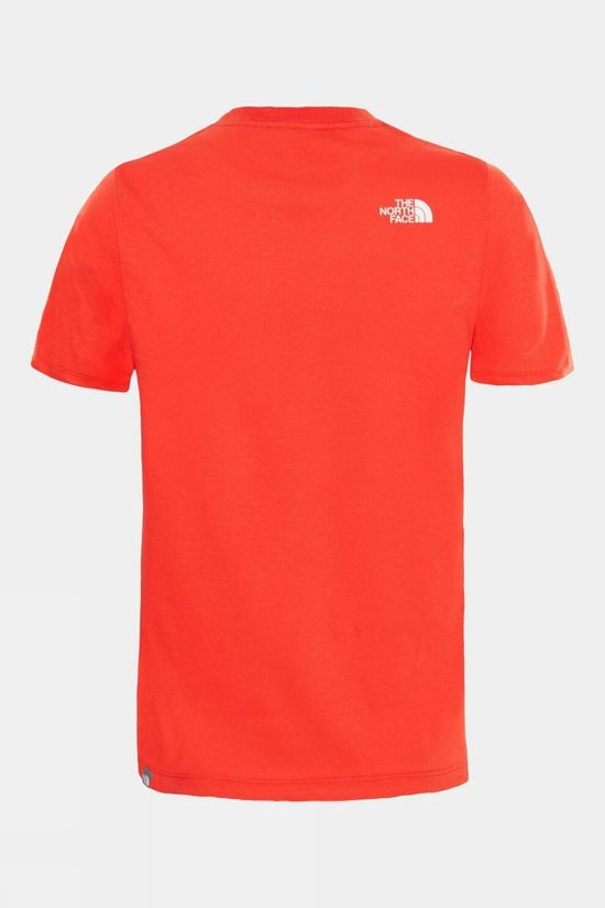 The North Face Easy Tee 14+ Fiery Red/TNF White
