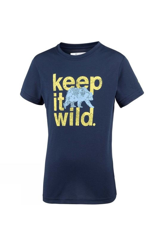 Columbia Boys Mini Ridge Short Sleeve T-Shirt Collegiate Navy Keep It Wild