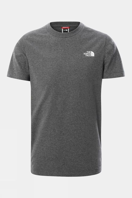 The North Face Youth Short Sleeve Simple Dome Tee TNF Medium Grey Heather