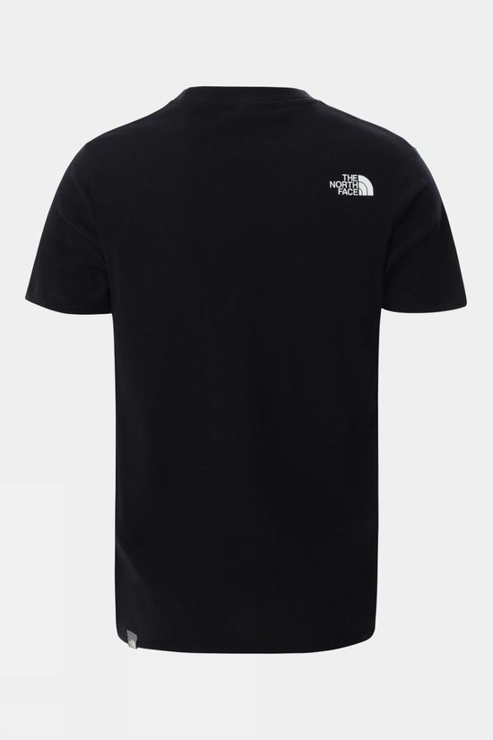 The North Face Youth Short Sleeve Graphic Tee TNF Black Dome Print