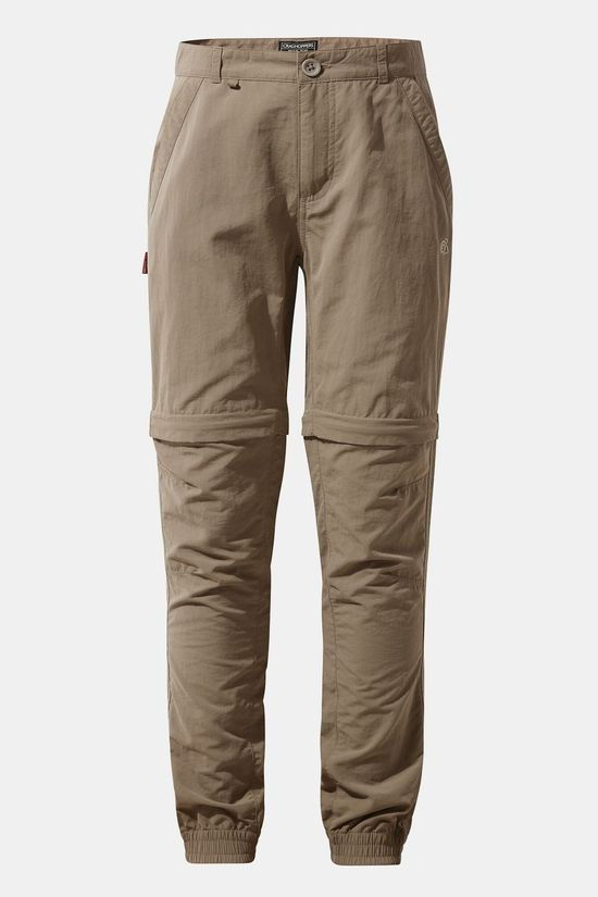 Craghoppers Childrens Nosilife Terrigal Convertible Trouser Pebble