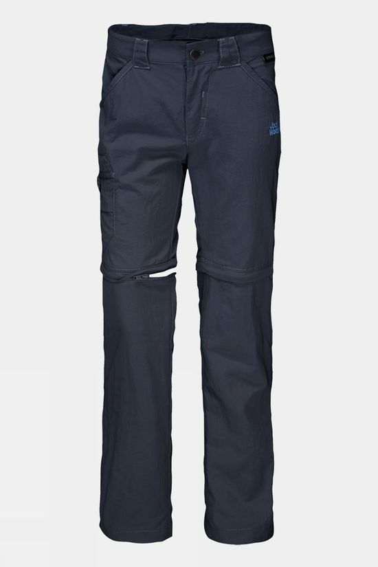 Jack Wolfskin Boys Safari Zip Off Pants Night Blue/Peacock Blue