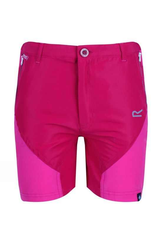 Regatta Kids Sorcer Mountain Shorts Age 14+ Dark Cerise/Caberet
