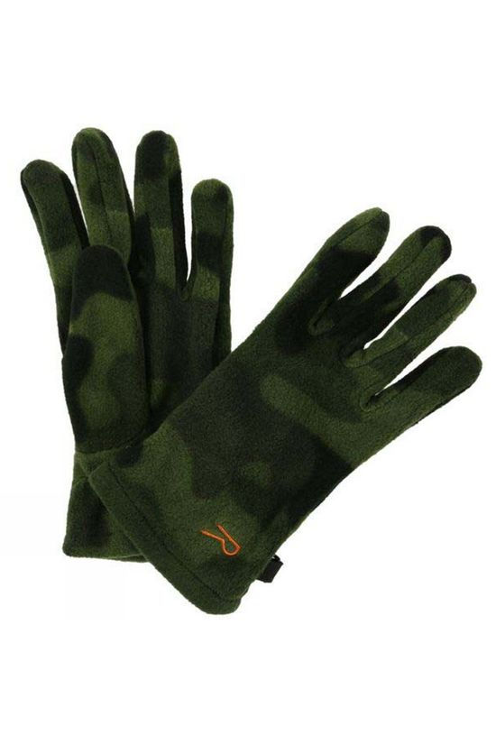 Regatta Boys Fallon Gloves Cypress Green Camo
