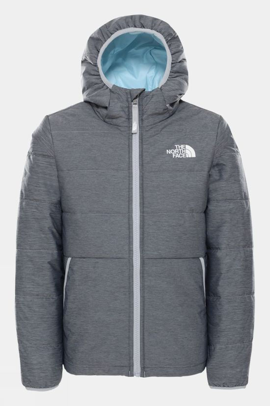 The North Face Girls Reversible Perrito Jacket TNF Medium Grey Heather