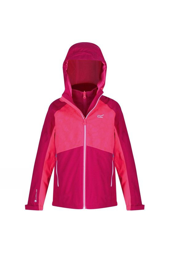 Regatta Kids Hydrate IV 3 In 1 Jacket 14+ Dark Cerise/Neon Pink