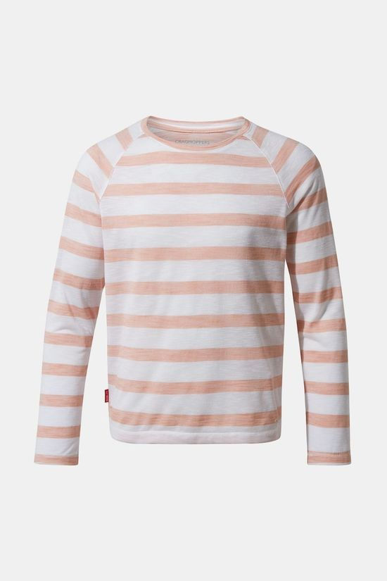 Craghoppers Girls NosiLife Paola T-Shirt Corsage Pink Stripe