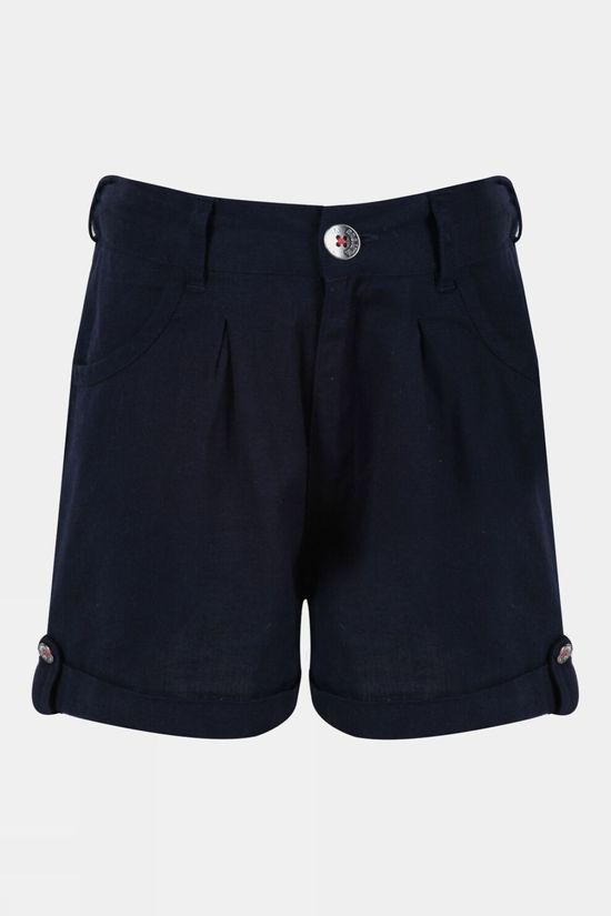 Regatta Girls Delicia Coolweave Short 14+ Navy