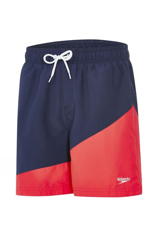 Speedo Kids Colour Block 15in Navy/ Lava Red
