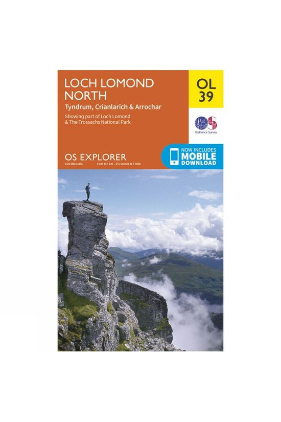 Ordnance Survey Explorer Map OL39 Loch Lomond North V15