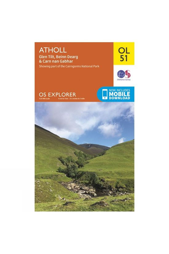 Ordnance Survey Explorer Map OL51 Atholl V15
