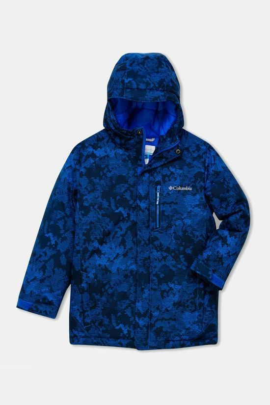 Columbia Boys'  Alpine Free Fall II Ski Jacket Super Blue Camo