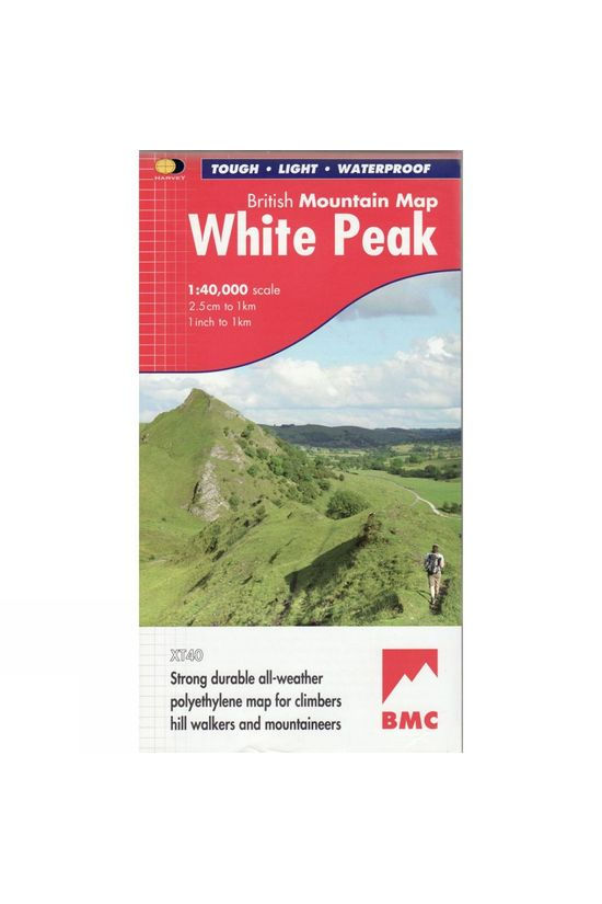 Harvey Maps White Peak British Mountain Map 1:40K No Colour