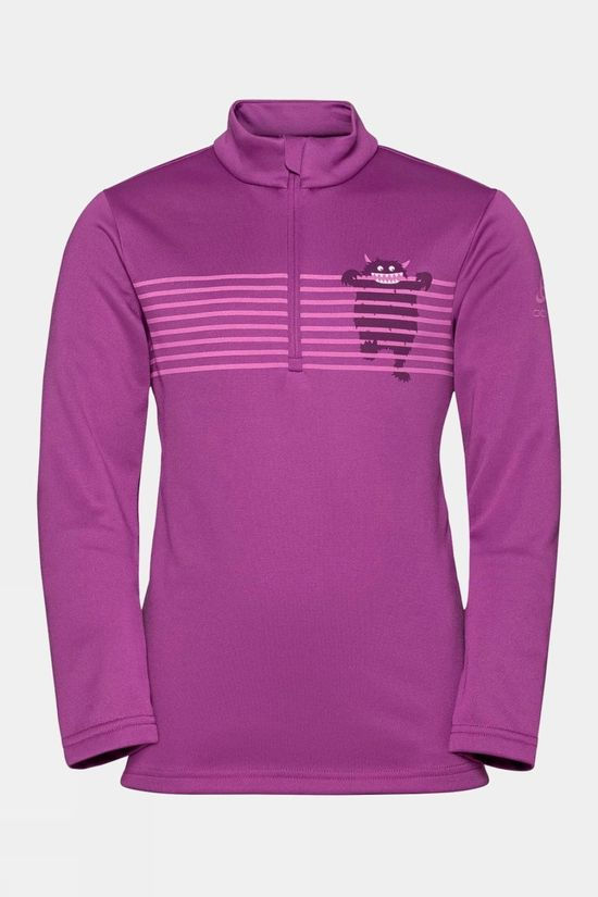 Odlo Kids Carve Light 1/2 Zip Midlayer 14+ Hyacinth Violet - Graphic Fw20