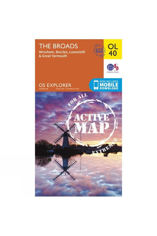 Ordnance Survey Active Explorer Map OL40 The Broads V15