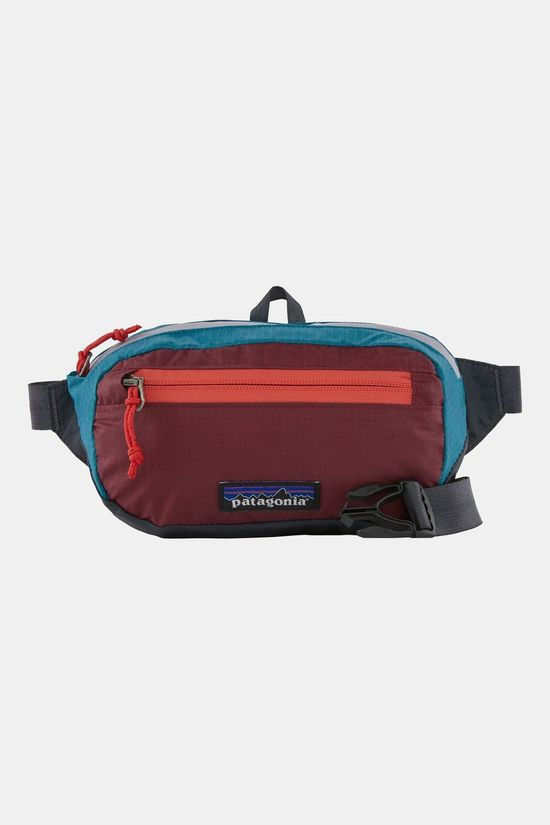 Patagonia Ultralight Black Hole Mini Hip Pack Patchwork: Roamer Red