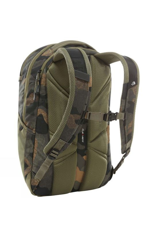 The North Face Cryptic Backpack Burnt Olive Green Waxed Camo Print/Burnt Olive Green