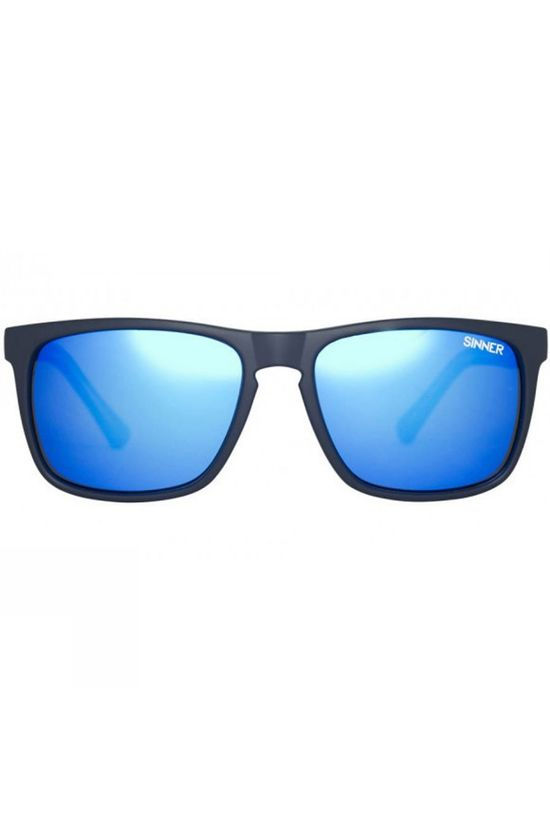Sinner Oak Polarised Sunglasses Matt Blue/Green / Green Mirror