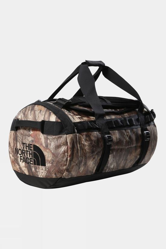 The North Face Base Camp Duffle Bag Medium Kelp Tan Forest Floor Print/TNF Black