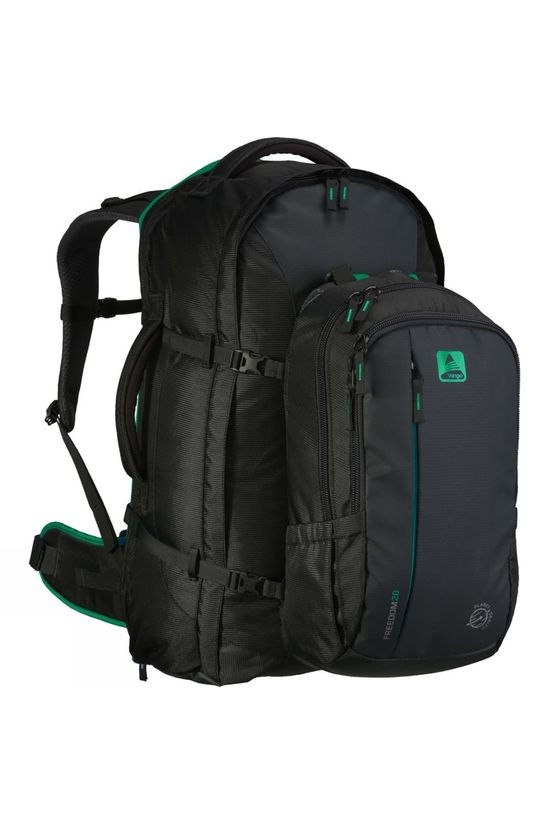 Vango Freedom II 60+20 Rucksack Carbide Grey / Caribbean Green