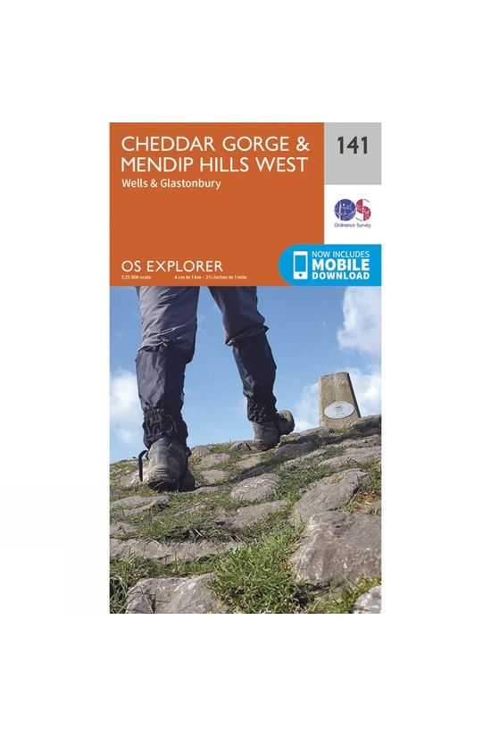 Ordnance Survey Explorer Map 141 Cheddar Gorge and Mendip Hills West V15