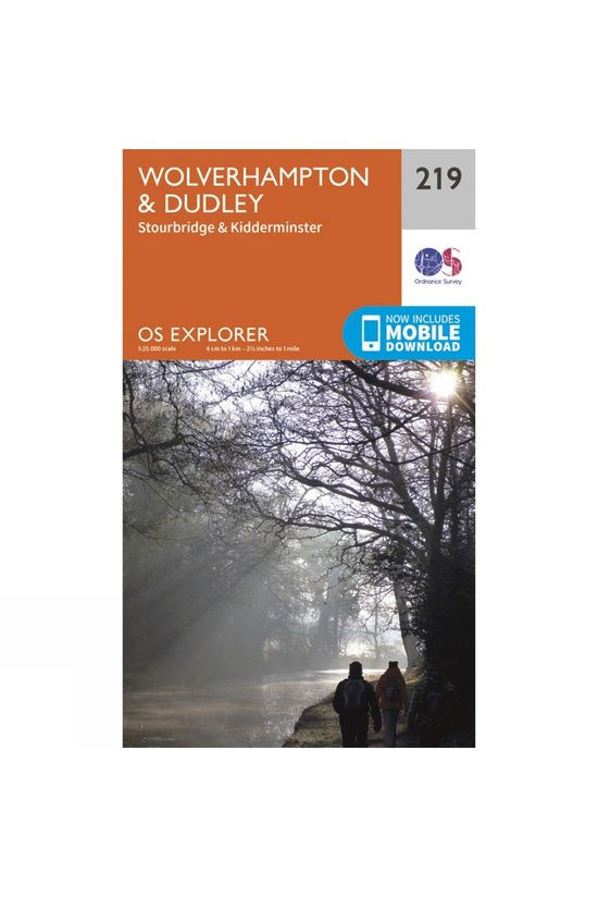 Ordnance Survey Explorer Map 219 Wolverhampton and Dudley V15