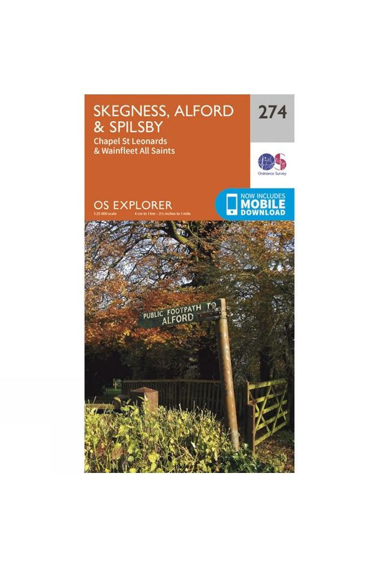 Ordnance Survey Explorer Map 274 Skegness, Alford and Spilsby V15