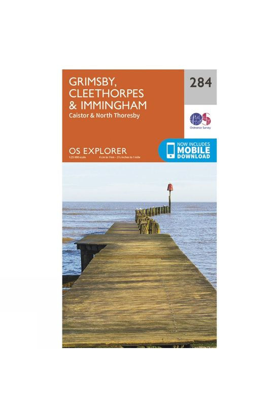 Ordnance Survey Explorer Map 284 Grimsby, Cleethorpes and Immingham V15