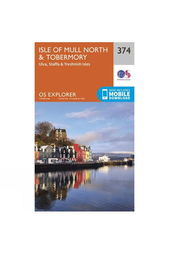 Ordnance Survey Explorer Map 374 Isle of Mull North and Tobermory V15