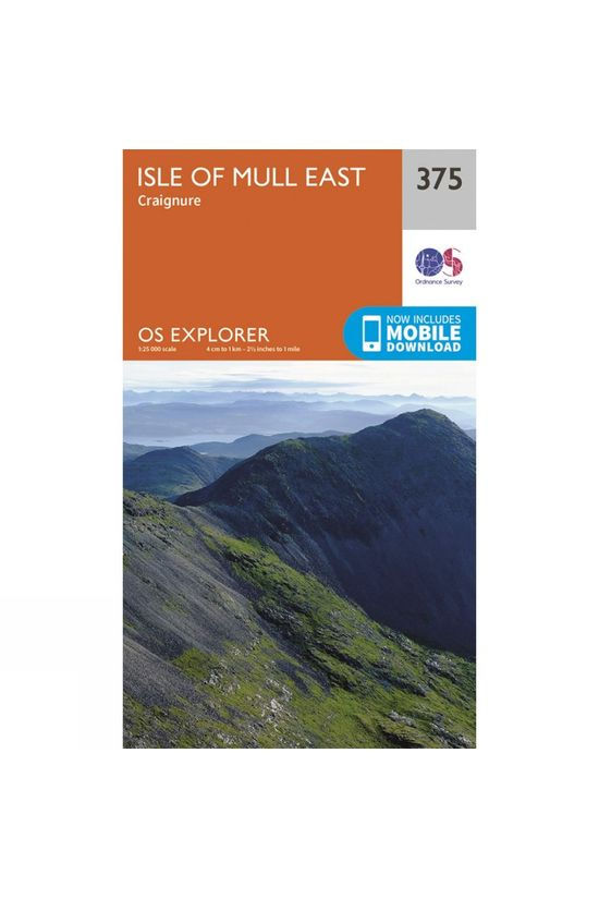Ordnance Survey Explorer Map 375 Isle of Mull East V15