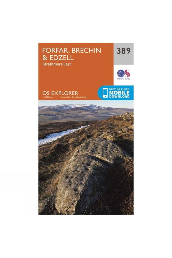 Ordnance Survey Explorer Map 389 Forfar, Brechin and Edzell V15