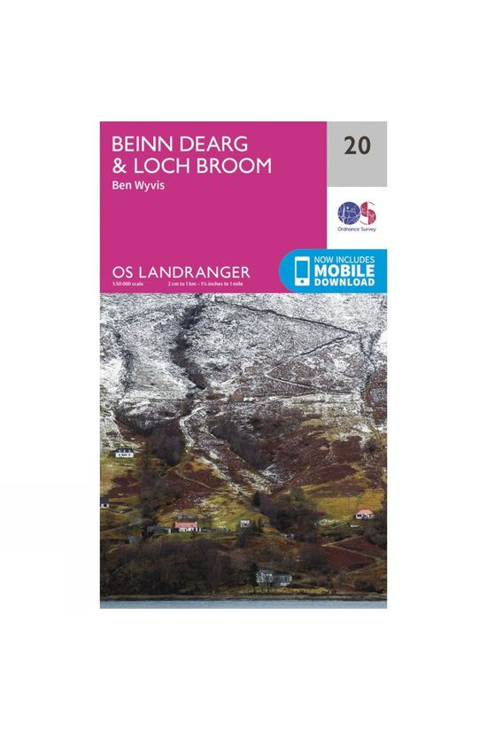 Ordnance Survey Landranger Map 20 Beinn Dearg and Loch Broom V16