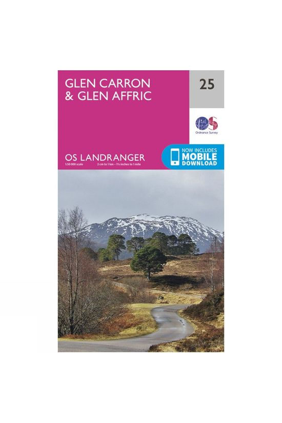Ordnance Survey Landranger Map 25 Glen Carron and Glen Affric V16