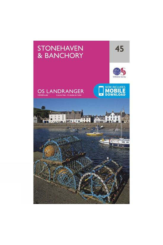 Ordnance Survey Landranger Map 45 Stonehaven and Banchory V16