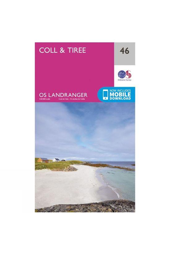 Ordnance Survey Landranger Map 46 Coll and Tiree V16