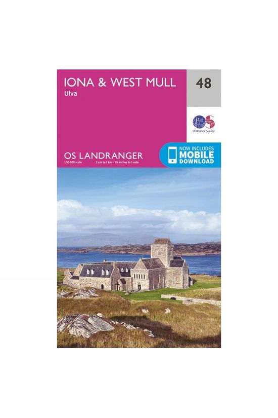 Ordnance Survey Landranger Map 48 Iona and West Mull V16