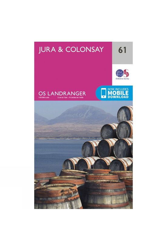 Ordnance Survey Landranger Map 61 Jura and Colonsay V16
