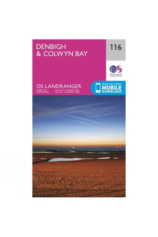Ordnance Survey Landranger Map 116 Denbigh and Colwyn Bay V16